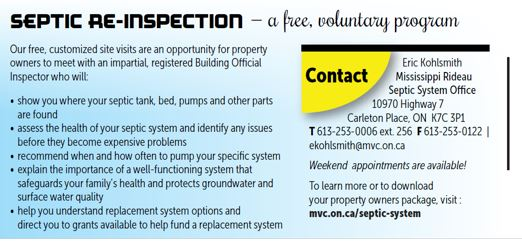 Septic Re-Inspection Program - Township of North Frontenac