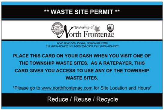 Waste Site Permit Application