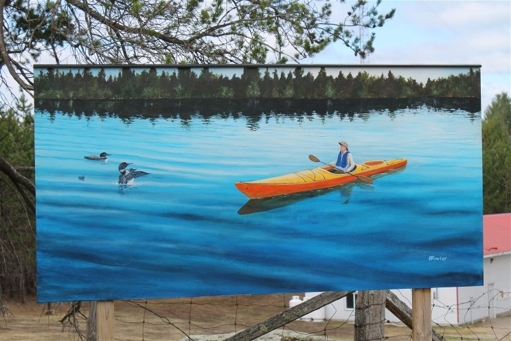 "Fred Fowler ""A North Frontenac Experience"" mural"