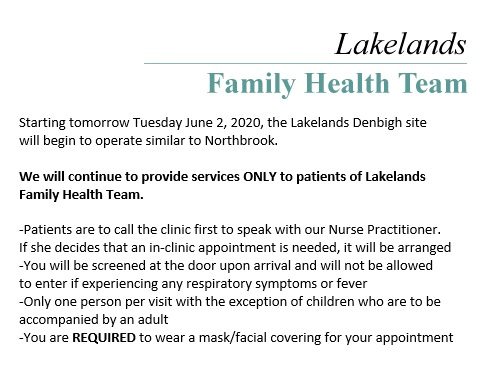 Lakelands Family Health Team Press Releases